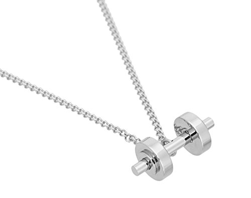 iShake sports n fitness metallic steel dumbell jewelry for boys and men