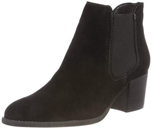 Tamaris Damen 25381-21 Chelsea Boots, Schwarz (Black 1), 42 EU