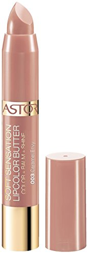 Astor Soft Sensation Lipcolor Butter, 003 Caramel Envy, pflegender Lippenstift, 1er Pack (1 x 5 g) -