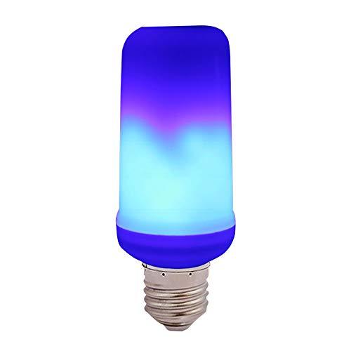 GZQ Flame Glühbirne E27 LED Flammeneffekt Feuer Birnen Atmosphäre Flackernde Flamme Dekorative Lampe mit 4 Beleuchtungsmodi für Hochzeit Party Weihnachten Hotel Bars Home Restaurants, plastik, blau, 1 Packung 3.00watts 265.00volts