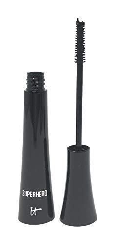 Superhero Elastic Stretch Volumizing Mascara: Black;Unique Elastic Stretch Technology Wraps Each Individual Lash;Formulated With Peptides, Proteins, Biotin, Lash-Enhancing Polymers & Collagen;Transforms Lashes With a Super Black Color for the Loo...