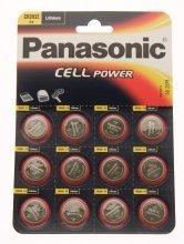 Panasonic CR2032–C12 Lot de 12 piles boutons au Lithium