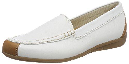 Gabor Shoes Damen Jollys Slipper, Weiss/Cognac, 42 EU