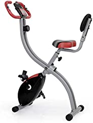 Ultrasport Bicicleta de ejercicio Unisex F-Bike, pantalla LCD, entrenador casero plegable, optativo, con respa