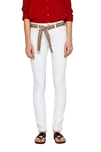 edc by ESPRIT Damen 039CC1B001 Slim Jeans, Weiß (White 100), W29/L32 (Herstellergröße: 29/32)