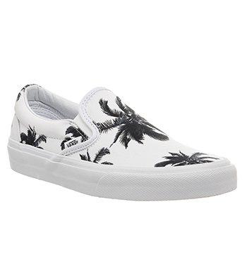 Vans Classic Slip On Shoes Palm Print White – 8 UK