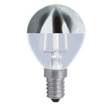 LED-Glühbirne, 3 W, kubisch, silberfarben, E14-Sockel, warmes Licht, 2700 K