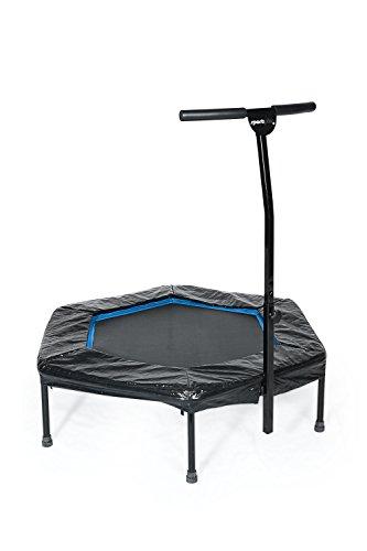 SportPlus Fitness Trampolin, Bungee-Seil-System, Ø 110 cm, bis 130 kg Benutzergewicht, TÜV Süd Sicherheit geprüft, blau - 9