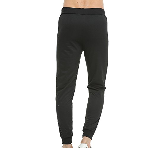 Topgrowth Uomo Pantaloni Palestra Sportivi Cotone Pantalone Running Fitness Casual Traspirante Hip Hop Jogger Trouser Nero
