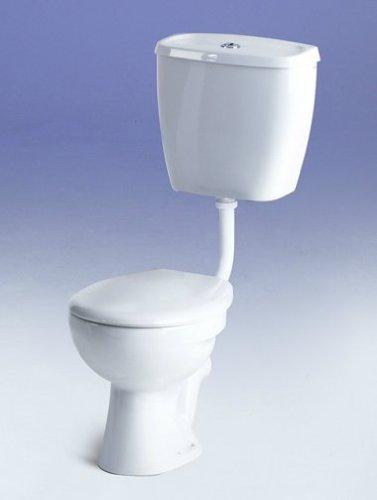 Low Level Toilet Pan, P Trap, White (pan only, not inc cistern)
