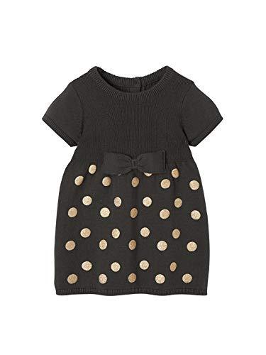 Vertbaudet Baby Strick-Kleid für Mädchen grau getupft 74