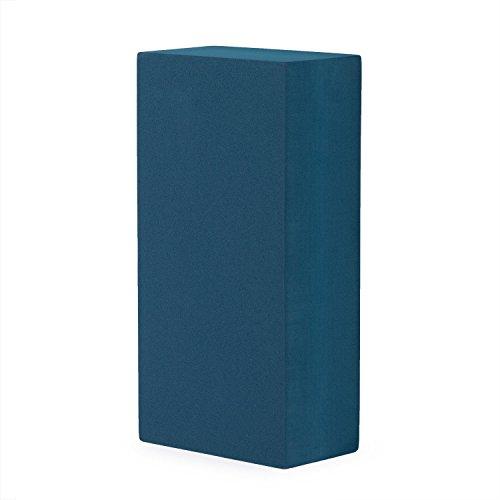 Yogaklotz ASANA BRICK, Yogablock, praktisches Yogazubehör, Yoga Hilfsmittel auch für Anfänger (blau)