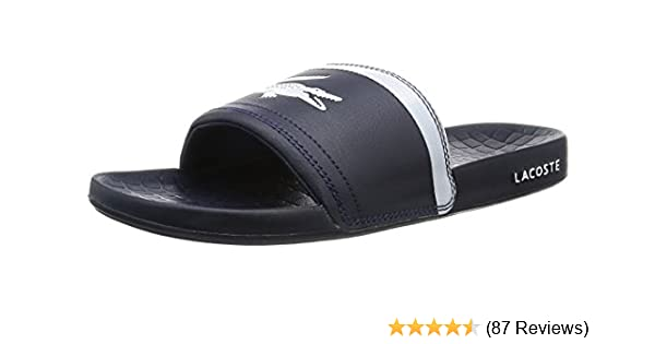 4a32118825cdc Lacoste Men s Frasier Brd1 Open Back Slippers  Amazon.co.uk  Shoes ...