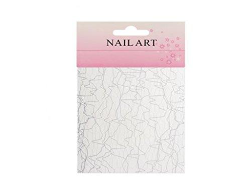Toile d'araignée nail art ongles design - Blanc - REF1977