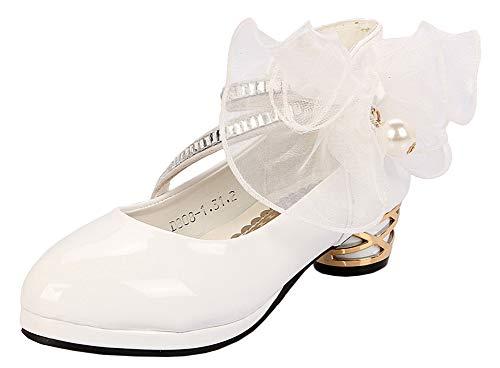 Scothen Mädchen Prinzessin Kostüm Ballerina Festliche Mädchenschuhe Festliche Mädchen Ballerinas Schuhe mit Schnalle für Hochzeit Kommunion Feier ()