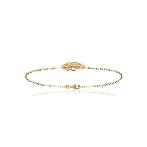 SMERALDO Damen Armband - Feder - 18kt Vergoldet