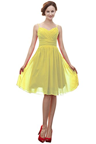 Vimans -  Vestito  - linea ad a - Donna Light Yellow