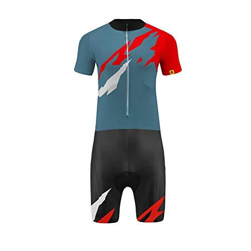 Uglyfrog Wear Triathlon Einteiler Herren Radsport Anzüge   FX Trisuit   Wettkampf   Frontreißverschluss   Kurzarm/Langer Schaft Oberteil+Kurze Beine mit Gelkissen