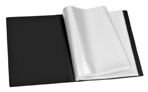 Veloflex 4420180 Sichtbuch A4, mit 20 eingeschweißten Hüllen, 40 Sichtseiten, aus PP, Sichtmappe, schwarz (Office Episoden)