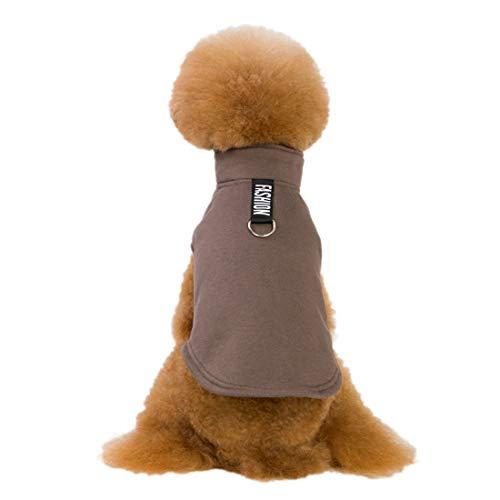 Brown Cowboy Jungen Kostüm - PZSSXDZW Herbst und Winter Pet Kleidung Fleece-Hundepullover Zwei Beine einfarbig Europäischer und amerikanischer Stil Weste Weste Teddy Hundemantel Brown Small