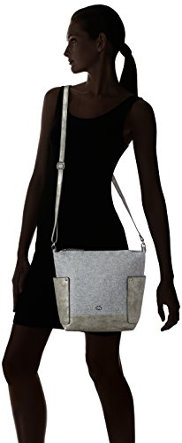 Gerry Weber Damen Voice Shoulder Bag V, M Schultertaschen, 25x29x11 cm Grau (light grey 801)