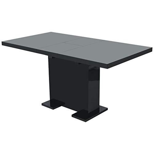 GoodWork4UEu Ausziehbarer Esstisch Hochglanz Schwarz Möbel Tische Küchen- & Esszimmertische -
