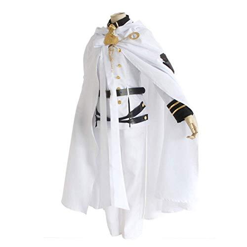 Für Erwachsene Kostüm Goldlöckchen - DXYQT Anime Cosplay Kostüm Rollenspiel Jacke Weiß Mantel Erwachsene Kostüm Kleidung Halloween Karneval Party Uniform Vollen Satz,White 9PCS-S
