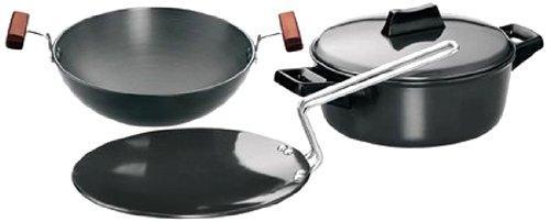 Hawkins Futura Hard Anodised Cookware, 4 Pieces Set (LS5)
