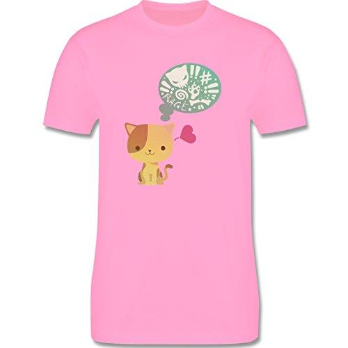 Katzen - Süße Katze Mordlust - Herren Premium T-Shirt Rosa