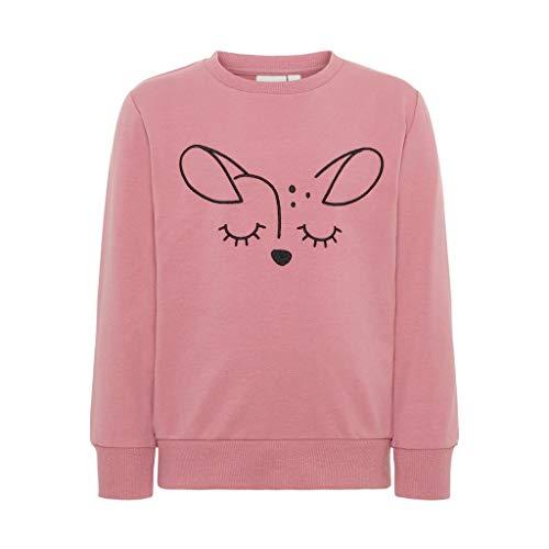 NAME IT Unisex Sweatshirt Bestickt in rosa mit Motiv REH 104/3-4 Jahre (Jumper Bestickte)