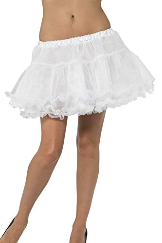 Price comparison product image Smiffys Petticoat with Satin Band - White