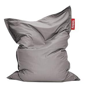 Fatboy® Original Outdoor Sitzsack Grey | Klassische Beanbag für draußen, Sitzkissen in Grau | 180 x 140 cm
