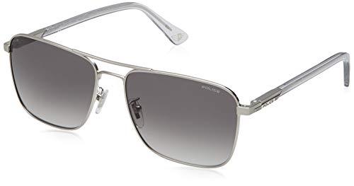 Police Herren WESTWING 3 Sonnenbrille, Grau (Shiny Matt Palladium/Grey), 58.0