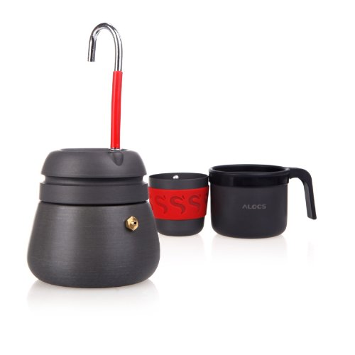 Lixada 350ml Portable Coffee Maker Pot Outdoor Coffee Pot Camping Hiking