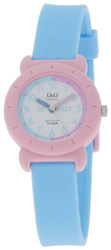 Q&Q Analog White Dial Children's Watch - VP81J016Y image