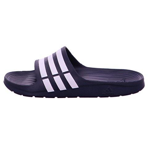 Adidas Duramo Slide, Ciabatte da Unisex Adulto Nero/argento catarifrangente/argento catarifrangente