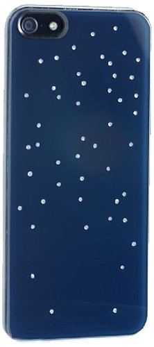 Qdos smoothies nightlife, custodia rigida con cristalli swarovski per iphone 5/5s, colore: blu