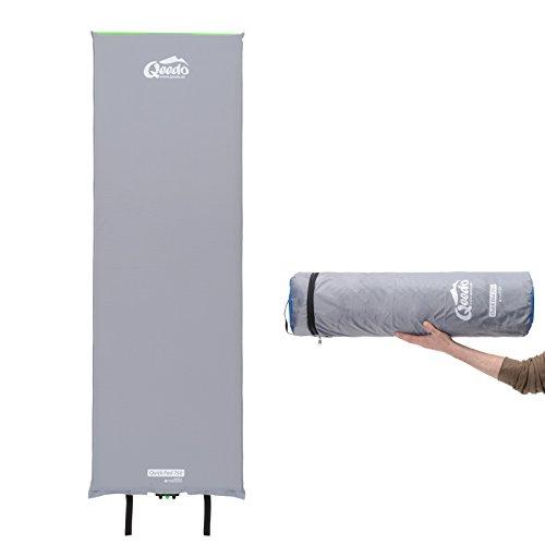 Qeedo Quick Pad 750 XL Isomatte selbstaufblasend 202 x 66 cm (vers. Stärken) selbstaufblasbare Isomatte inkl. Tornado-Ventil (schneller), Easy-Roller (einfaches & kompakt) und robuster Packtasche -