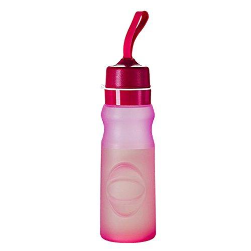 Flaschen Camping-550ml Wandern zusammenklappbar Tasse Wasser Wasserkocher Wasser Silikon Faltbar für Reise im Freien Sport p-288 rot