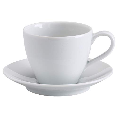 IKEA 602.774.63 Värdera Kaffeetasse und Untertasse, weiß