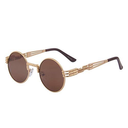 Sport-Sonnenbrillen, Vintage Sonnenbrillen, Women Steampunk Sunglasses Men Retro Round Sunglasses Metal Sun Glasses Men Oculos De Sol UV400
