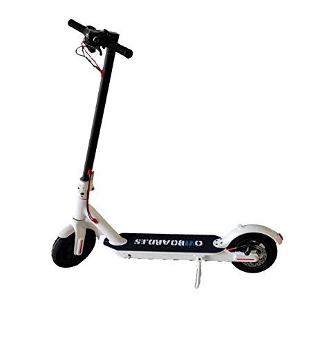 Oviboard Scooter Eléctrico M365 - Patinete Eléctrico Plegable, 25km/h, 25 Km Alcance (Blanco)