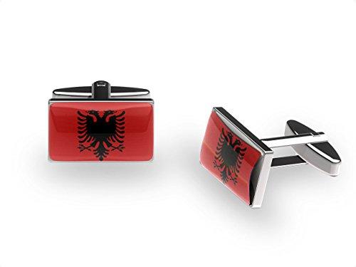 Albanischen Adler Manschettenknöpfe (Albanien Flagge Manschettenknöpfe mit Geschenk-Box)