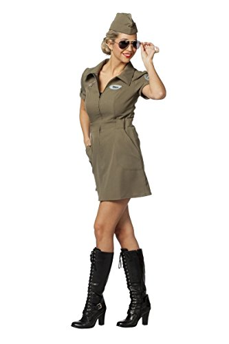 Kleid Army Kostüm - Damen Kostüm Army Pilotin Kleid Karneval Fasching Gr.46