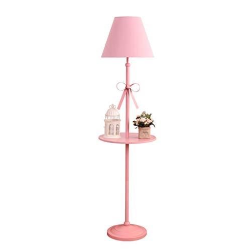 Floor Stand Lights - Nordic Pastoral Europäischen Prinzessin Mädchen Rosa Stehlampe Mit Beistelltisch Kinderzimmer Kinderzimmer Wohnzimmer Hochzeit Zimmer Tischlampe E27 - Design Fixture Lighting - Prinzessin Beistelltisch