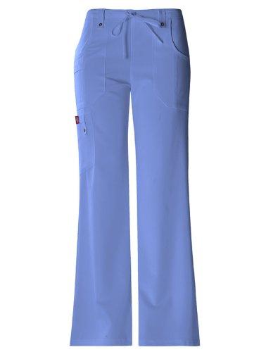 'Drawstring Flare Bein Hose' Scrub B?den Ceil Blue Kleine Petite (Kleine Flare Scrubs Hose)