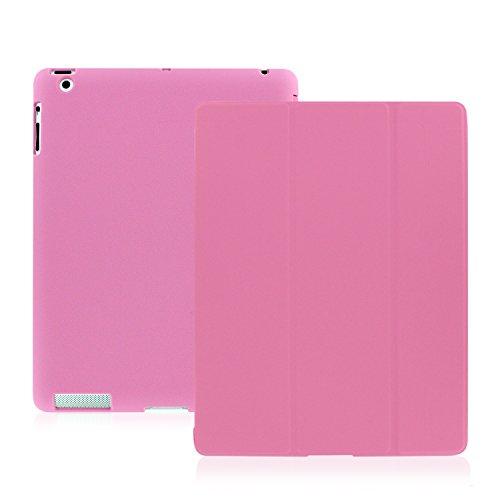 Khomo iPad 2, iPad 3, iPad 4 Retina Hülle Case Rosa Gehäuse mit doppelten Schutz ultra dünn und leicht, Smart Cover  - Dual Pink (Speck Computer-gehäuse)