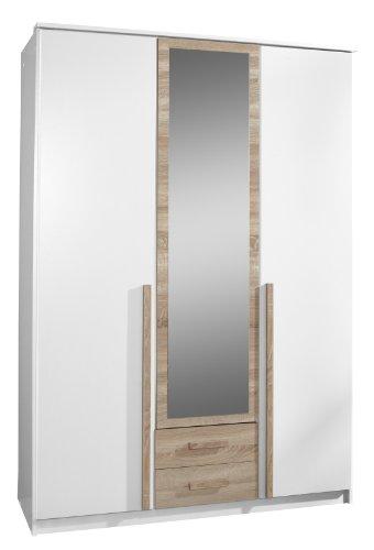 Wimex Kleiderschrank/Drehtürenschrank Rio, 2 Schubladen, (B/H/T) 135 x 197 x 58 cm, Weiß