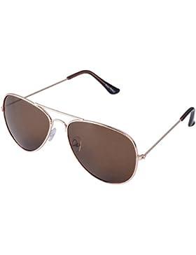 Gafas de sol de estilo aviador con bisagra con resorte, varios colores Rosegoldener Rahmen / Braun Gläser Talla...