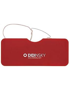 DIDINSKY Gafas de lectura sin patillas graduadas para hombre y mujer transparentes. Gafas de presbicia para hombre...